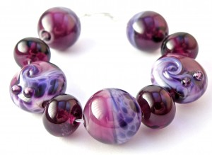 African Violet 955 Seashell Swirl CiM Simply Berry