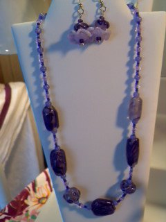 Purple Lampwork Necklace