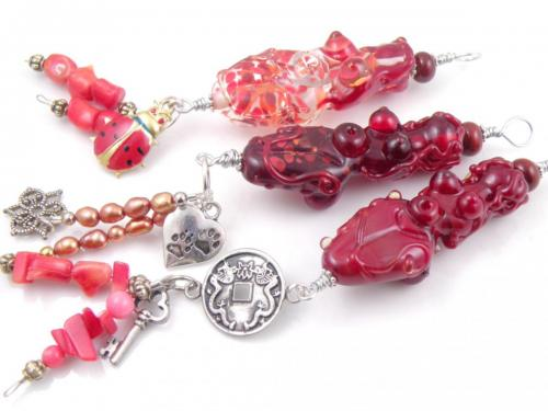 Red Goddess Pendants
